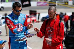 Aric Almirola, Richard Petty Motorsports Ford signing autographs