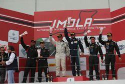 Podio Gara 1 SGTCup: Desideri-Negra, Antonelli Motorsport, Damico-Zaugg, Raton Racing, Baruch-Liang