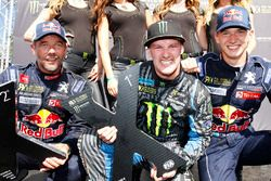 Winner Andreas Bakkerud, Hoonigan Racing Division, second place Sébastien Loeb, Team Peugeot Hansen, third place Timmy Hansen, Team Peugeot Hansen