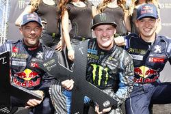 1. Andreas Bakkerud, Hoonigan Racing Division; 2. Sébastien Loeb, Team Peugeot Hansen; 3. Timmy Hans