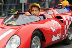 Children drives small car
