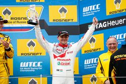 Podio: Norbert Michelisz, Honda Racing Team JAS, Honda Civic WTCC