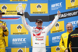 Podium: Norbert Michelisz, Honda Racing Team JAS, Honda Civic WTCC