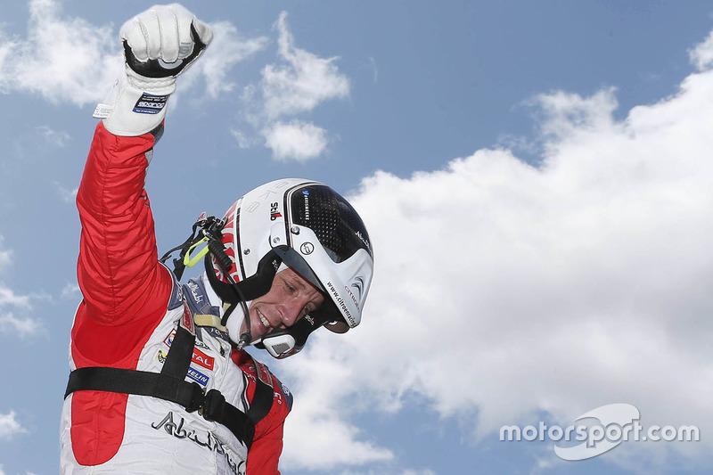 Le vainqueur Kris Meeke, Abu Dhabi Total World Rally Team