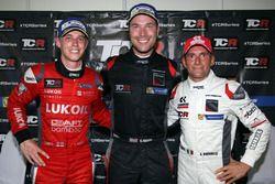 Podio: il vincitore della gara Kevin Gleason, Honda Civic TCR, West Coast Racing; il secondo classif