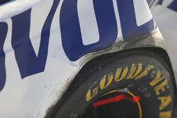 Crashed car of Trevor Bayne, Roush Fenway Racing Ford