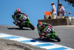 Tom Sykes, Kawasaki Racing Team; Jonathan Rea, Kawasaki Racing Team