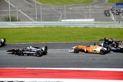 Авария Антония Птака, RP Motorsport, Хулио Морено, Campos Racing и Кантади Кусири, RP Motorsport