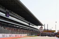 La grille avant le départ de la course