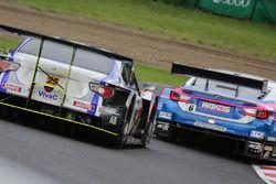 #25 Team Tsuchiya Toyota MC86: Takeshi Tsuchiya, Takamitsu Matsui and #6 Lexus Team LeMans Lexus RC F: Kazuya Oshima, Andrea Caldarelli