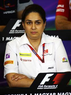 Monisha Kaltenborn, team principal Sauber lors de la conférence de presse de la FIA