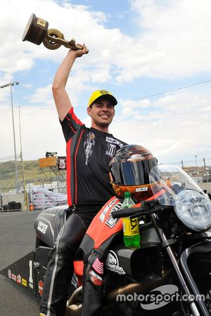 Pro Stock Bike winner Andrew Hines