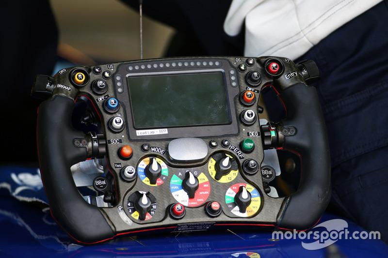Sauber C35 steering wheel
