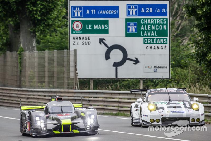 #4 ByKolles Racing CLM P1/01: Сімон Труммер, П'єрр Каффер, Олівер Вебб та #91 Porsche Motorsport Po