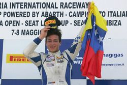 Race 1 podium: winner Mauricio Baiz, Mücke Motorsport