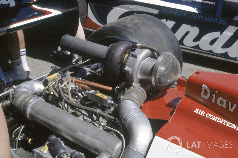 El motor Hart turbo en el Toleman TG181