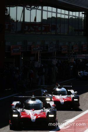 #7 Toyota Gazoo Racing Toyota TS050: Mike Conway, Jose Maria Lopez, Kamui Kobayashi, #8 Toyota Gazoo Racing Toyota TS050: Sébastien Buemi, Kazuki Nakajima, Fernando Alonso