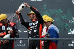 Les vainqueurs en LMP2 : #26 G-Drive Racing Oreca 07: Roman Rusinov, Jean-Eric Vergne, Andrea Pizzitola