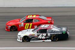 Tyler Reddick, Chip Ganassi Racing Chevrolet and Harrison Rhodes, JD Motorsports Chevrolet