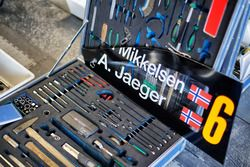 Kit de herramientas de Andreas Mikkelsen, Anders Jäger, Hyundai i20 WRC, Hyundai Motorsport