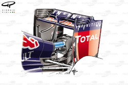 Red Bull RB10 rear wing (introduced at US GP) and new monkey seat