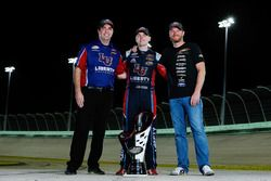 2017 champion William Byron, JR Motorsports Chevrolet, team owner Dale Earnhardt Jr., crew chief David Elenz