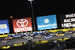 Denny Hamlin, Joe Gibbs Racing, Toyota Camry FedEx Express and Daniel Suarez, Joe Gibbs Racing, Toyota Camry ARRIS