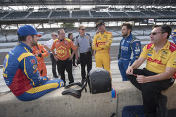 Alexander Rossi, Ryan Hunter_Reay, and Carlos Munoz, Andretti Autosport Honda