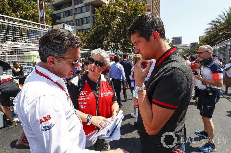 Alejandro Agag, Formula E CEO, talks to TV Presenter Vernon Kaye