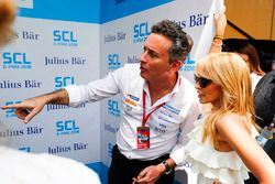 Alejandro Agag, Formula E CEO, CEO, Formula E talking to singer Kylie Minogue