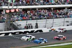 Checkered flag for Tyler Reddick, JR Motorsports Chevrolet Camaro, second Elliott Sadler, JR Motorsports Chevrolet Camaro