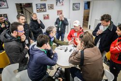 Sébastien Loeb, Citroën World Rally Team wit the media