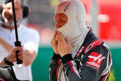 Kevin Magnussen, Haas F1 Team, en la parrilla