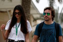 Fernando Alonso, McLaren and girlfriend Linda Morselli