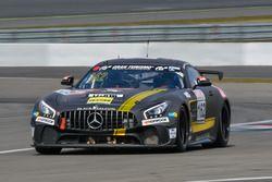 #162 BLACK FALCON Team TMD Friction Mercedes-AMG GT4: Mustafa Mehmet Kaya, Gabriele Piana, Miguel Toril Boquoi