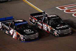 Christopher Bell, Kyle Busch Motorsports Toyota, Noah Gragson, Kyle Busch Motorsports Toyota, restart