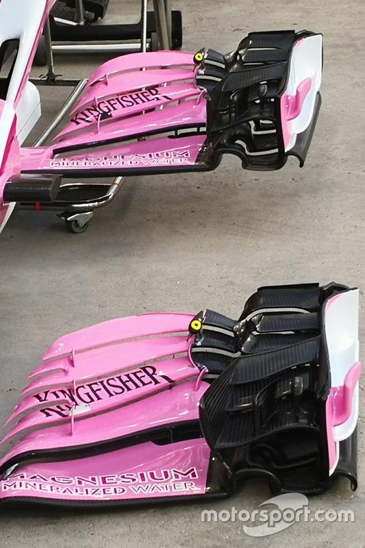 Force India VJM11 detalle de ala delantera