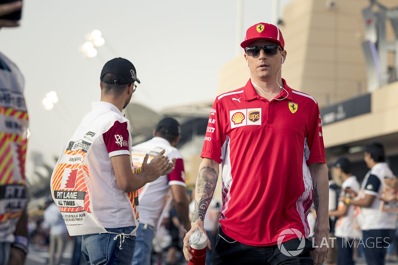 Kimi Raikkonen, Ferrari en el desfile de pilotos