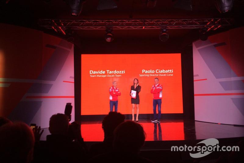 Davide Tardozzi, Team Manager Ducati e Paolo Ciabatti, Director Deportivo Ducati