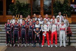 La photo de famille des pilotes WRC 2018