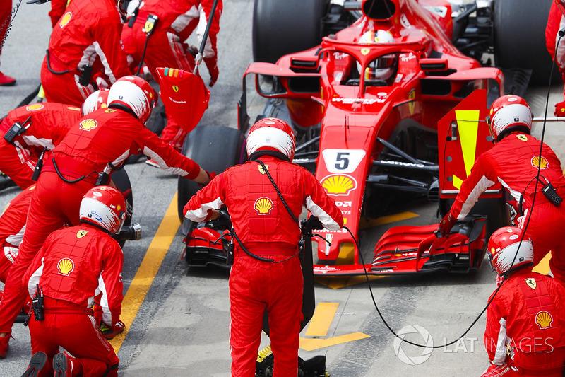Sebastian Vettel, Ferrari SF71H,
