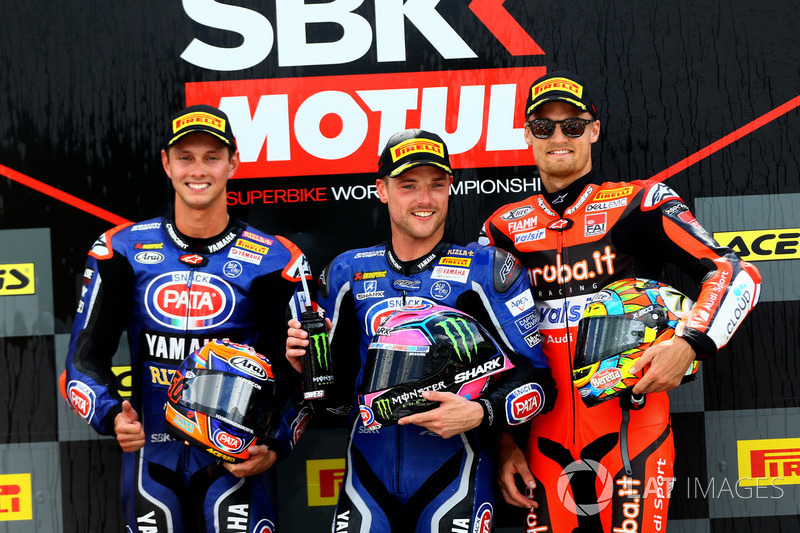 Michael van der Mark, Pata Yamaha, Alex Lowes, Pata Yamaha, Chaz Davies, Aruba.it Racing-Ducati SBK
