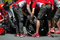Changement de roue chez Ducati