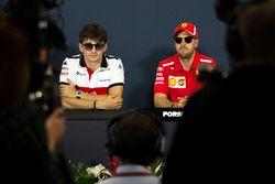 Sebastian Vettel, Ferrari and Sebastian Vettel, Ferrari in the Press Conference