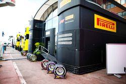 El área de hospitalidad de Pirelli