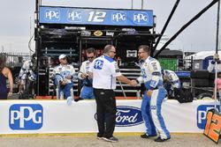 Brad Keselowski, Team Penske, Ford Fusion Stars, Stripes, and Lites crew chief Jeremy Bullins