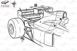 Jordan 196 ekstra kanat, Monaco GP