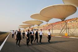 Track walk for Anthony Davidson, Sébastien Buemi, Kazuki Nakajima, Toyota Gazoo Racing