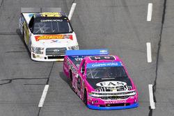 John Hunter Nemechek, SWM-NEMCO Motorsports Chevrolet anad Regan Smith, Ricky Benton Racing Ford