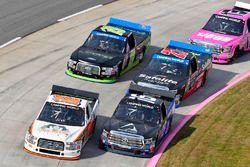 Ryan Truex, Hattori Racing Enterprises Toyota and Austin Hill, Outdoors Int'l Ford F150